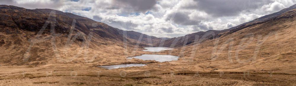 The Glen of 3 Lochs panoramic print