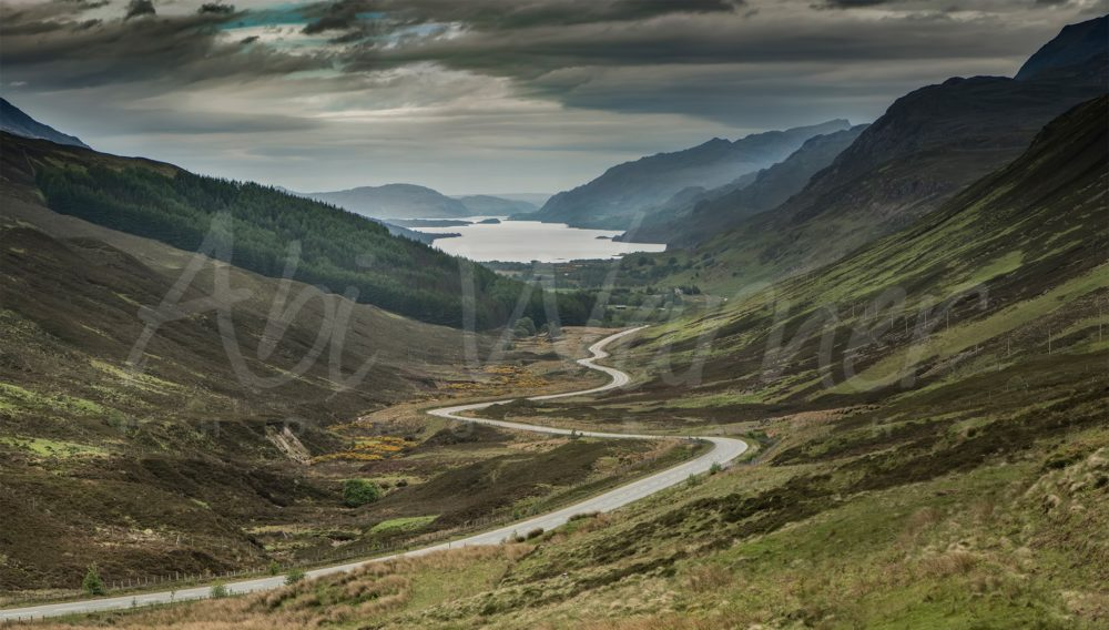 The Road to Loch Maree panoramic print